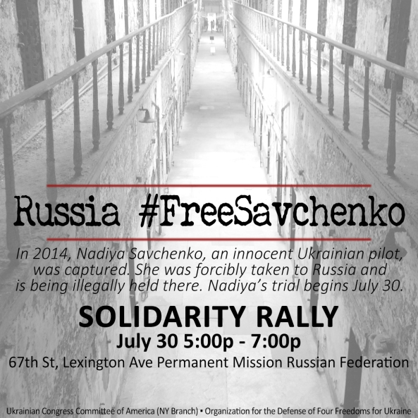 Nadiya Savchenko July 30 2015 - Protest in NYC